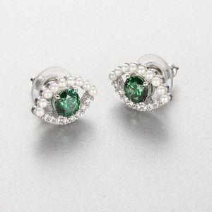 Swarovski Luckily Pierced Earrings, Green